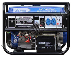 Портативный генератор ТСС TSS SGG 6000 EH мощностью 6.5 кВт)