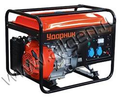 Портативный генератор Ударник УБГ 7000 мощностью 5.5 кВт)