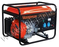 Портативный генератор Ударник УБГ 8200 мощностью 6.5 кВт)