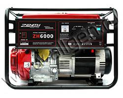 Портативный генератор Zenith ZH6000 мощностью 5.5 кВт)