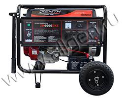Портативный генератор Zenith ZH6000DXE мощностью 5.5 кВт)