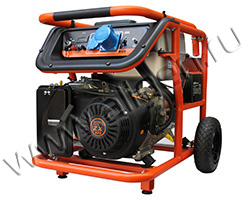 Портативный генератор Mitsui Power ZM 7500 E мощностью 6.5 кВт)