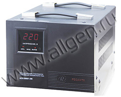 Стабилизатор напряжения Ресанта ASN-3000/1-EM мощностью  кВт
